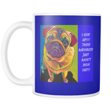 COFFEE MUG- DOG LOVERS- 11 OZ COFFEE MUG-10 pictures-10 sayings