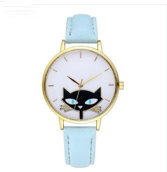 CAT LOVERS  QUARTZ WRISTWATCHES - 8 colors($1 donated to the Humane Society with purchase.)