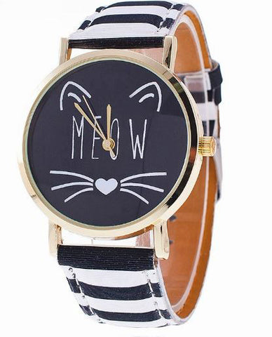 CAT LOVERS QUARTZ WRISTWATCH