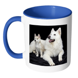 COFFEE MUG- DOG LOVERS- 11 OZ COFFEE MUG-1 design-7 colors