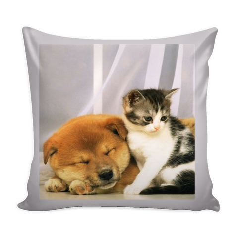 PILLOWS-CAT AND DOG LOVERS- LOVABLE DOG AND CAT PILLOWS-5 designs