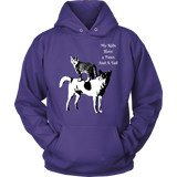 "SHIRTS-CAT AND DOG LOVERS ""MY KIDS HAVE 4 PAWS AND A TAIL"" LONG SLEEVE UNISEX HOODIE-8 colors-8 sizes"