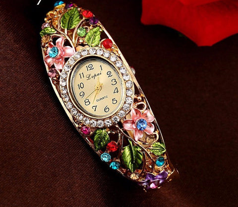 WOMEN'S QUARTZ BRACELET WATCHES-6 colors