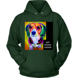 "SHIRTS- DOG LOVERS ""BEST FRIENDS FOREVER"" LONG SLEEVE UNISEX HOODIE-11 colors-8 sizes"