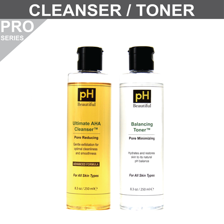 Ultimate AHA Cleanser/Toner Pair with 2% Glycolic Acid - Larger Size