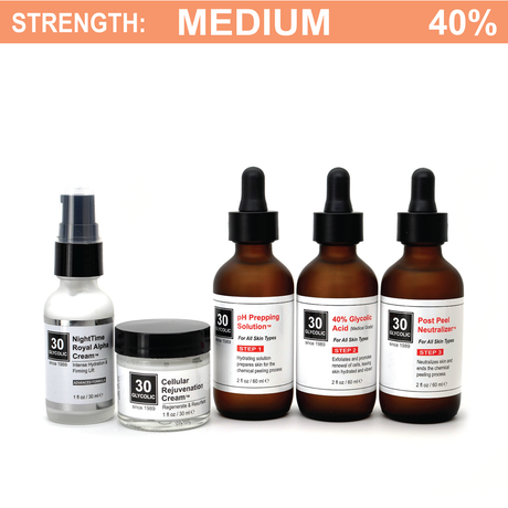 40% Glycolic Peel System for Acne Scar & Skin Discoloration