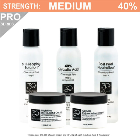 Pro-Series 40% Glycolic Peel System for Acne Scar & Skin Discoloration