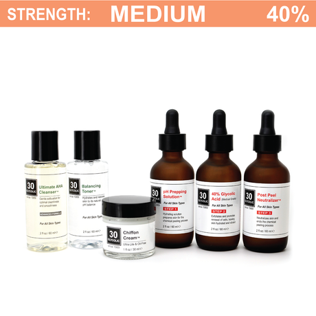 40% Deluxe Glycolic Peel System for Combo/Oily/Acne Skin