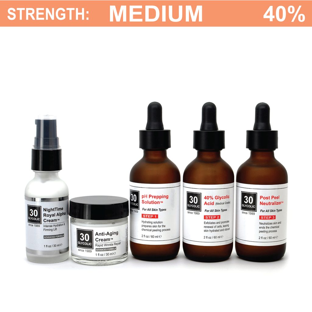 40% Anti-Wrinkle Anti-Aging Glycolic Peel System