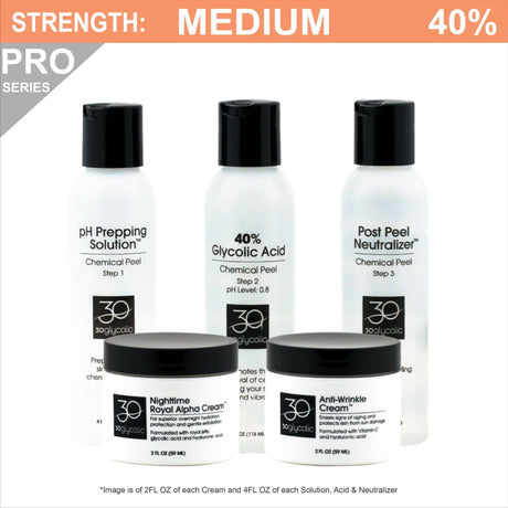 Pro-Series 40% Anti-Wrinkle Anti-Aging Glycolic Peel System