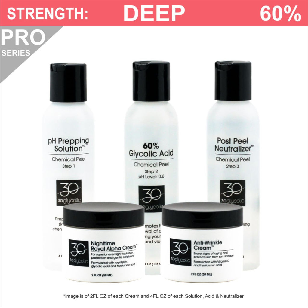 Pro-Series 60% Anti-Wrinkle Anti-Aging Glycolic Peel System