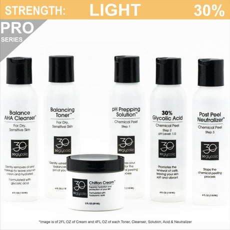 Pro-Series 30% Deluxe Glycolic Peel System for Normal/Dry/Sensitive Skin