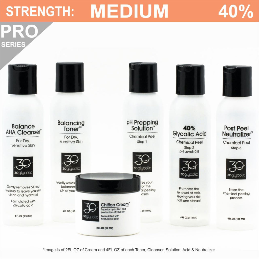 Pro-Series 40% Deluxe Glycolic Peel System for Normal/Dry/Sensitive Skin