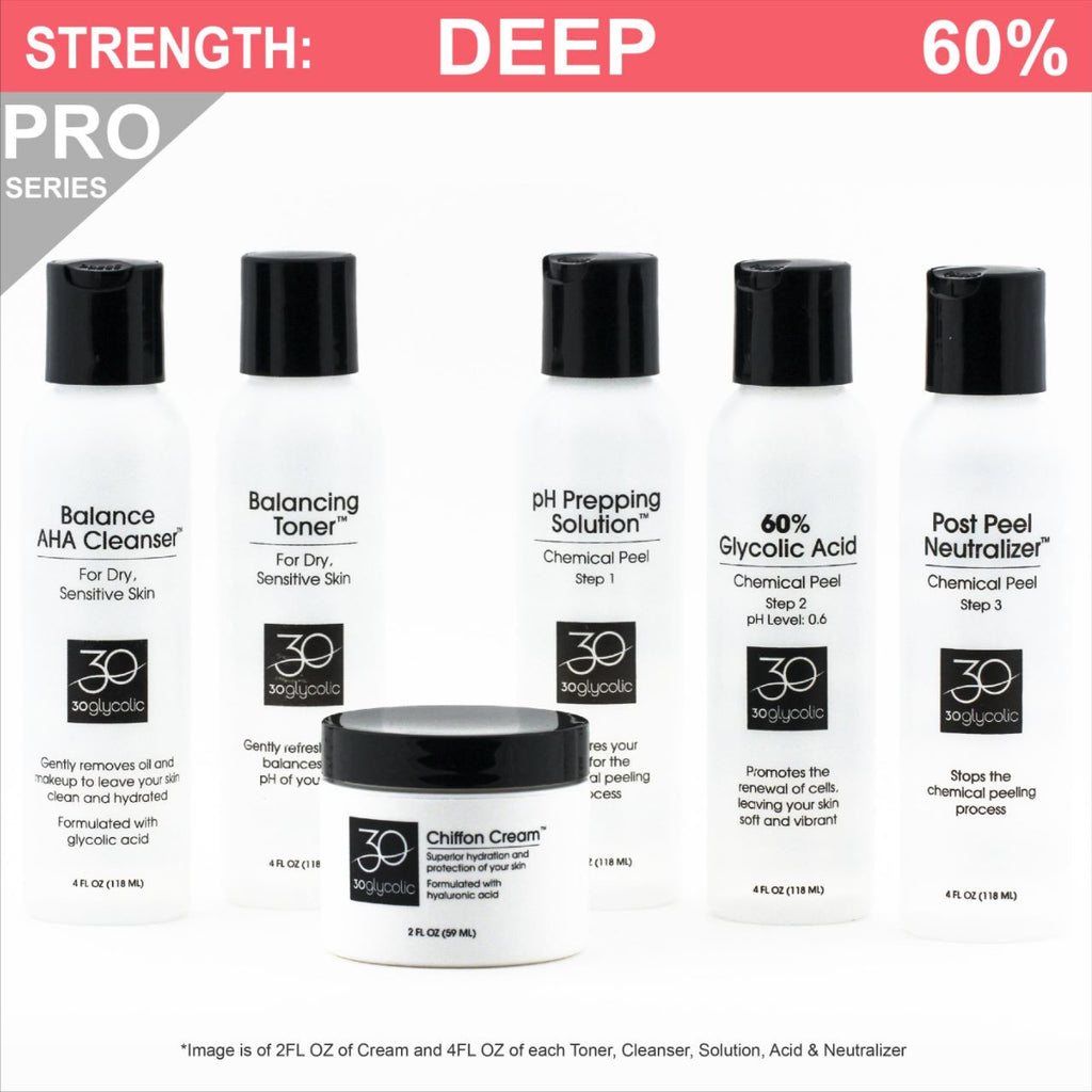 Pro-Series 60% Deluxe Glycolic Peel System for Normal/Dry/Sensitive Skin