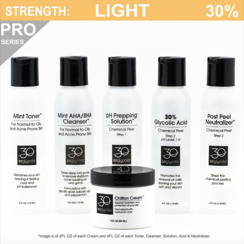 Pro-Series 30% Deluxe Glycolic Peel System for Combo/Oily/Acne Skin