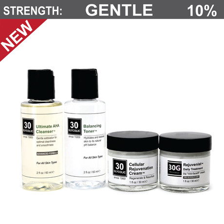 10% Glycolic Daily Treatment System - Skin Peel On-the-Go