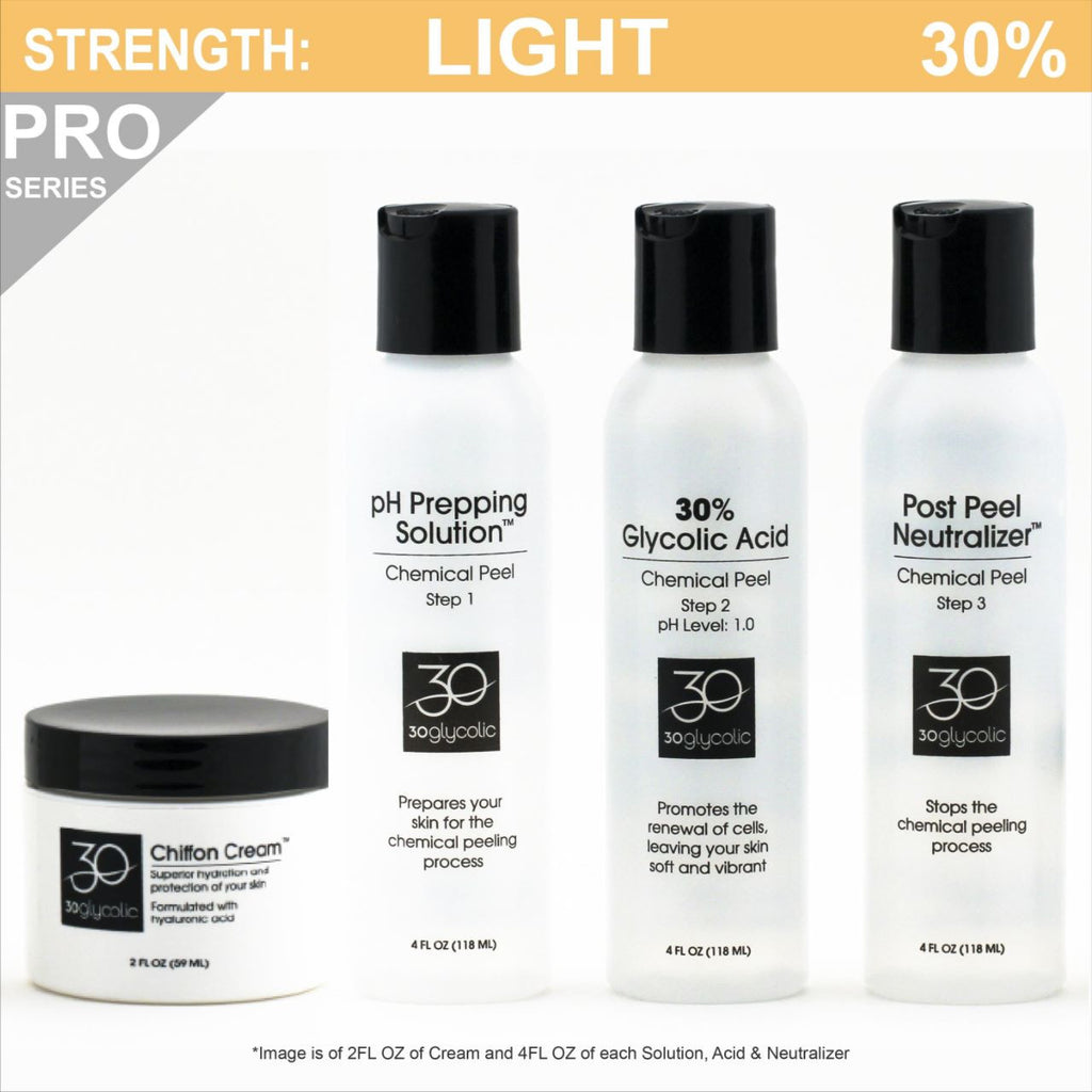 Pro-Series 30% Glycolic Peel System for All Skin Types (including Keratosis, Psoriasis)