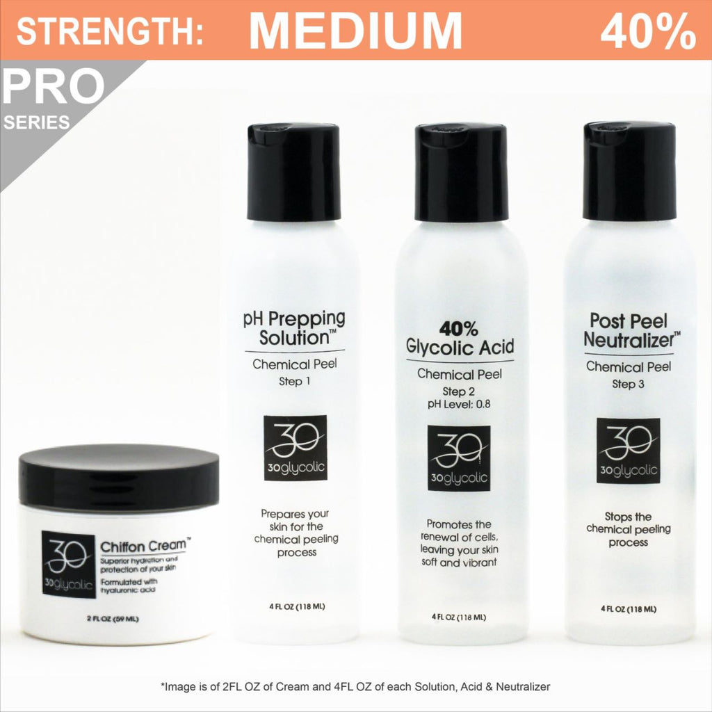 Pro-Series 40% Glycolic Peel System for All Skin Types (including Keratosis, Psoriasis)
