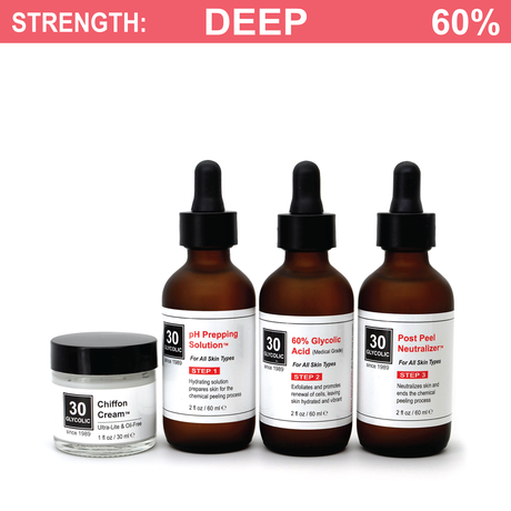 60% Standard Glycolic Peel System for all Skin Types