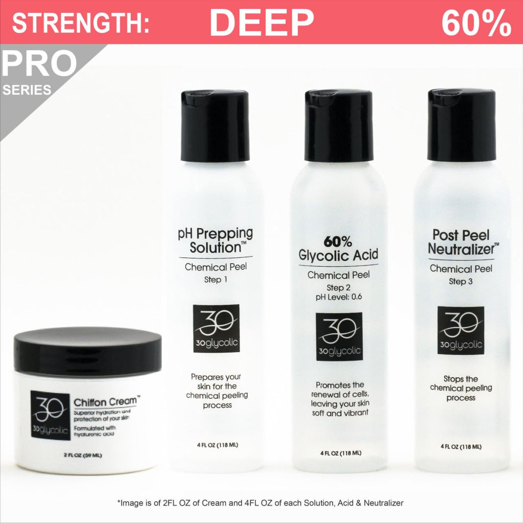 Pro-Series 60% Glycolic Peel System for All Skin Types (including Keratosis, Psoriasis)