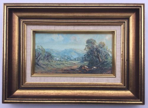 Judy  Barnard Miniature Landscape Framed Oil Painting,Paintings - Hatherley Fine Art Gallery