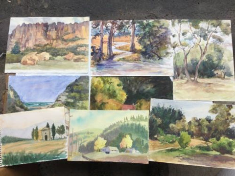 Set Of 8 Watercolours