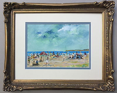 Donald Fraser  Beach Scene  Acrylic Painting,Paintings - Hatherley Fine Art Gallery