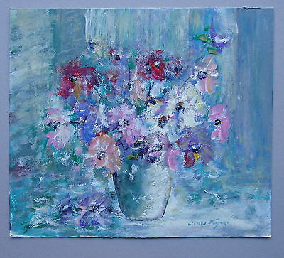 Stephen Tandori Floral Arrangment Oil Painting