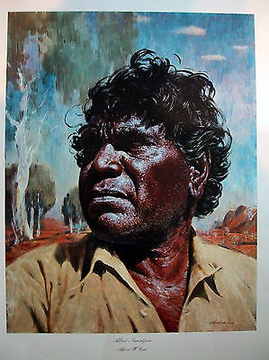 H.Cook,s Portrait of Albert Namatjira print