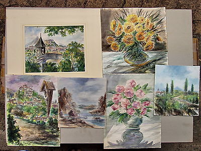 A.SCHREINER Set Of 6 Watercolour Paintings