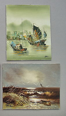 2 X Oriantial paintings Unframed