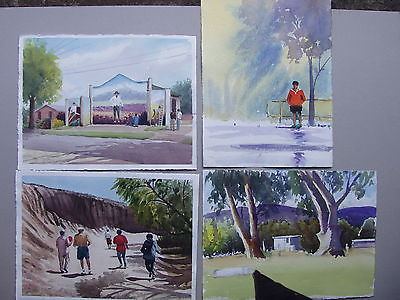 Set of 4 Watercolor Paintings 2
