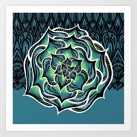 Succulents and Black Lace by Nicole B Roberts