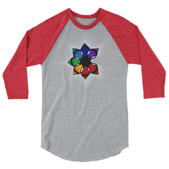 The Catalyst Flower- Unisex 3/4 sleeve raglan shirt