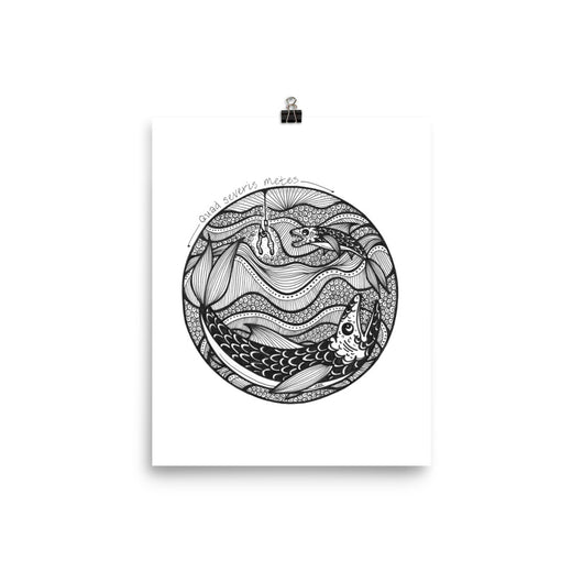 Bigger Fish Latin Phrase Print