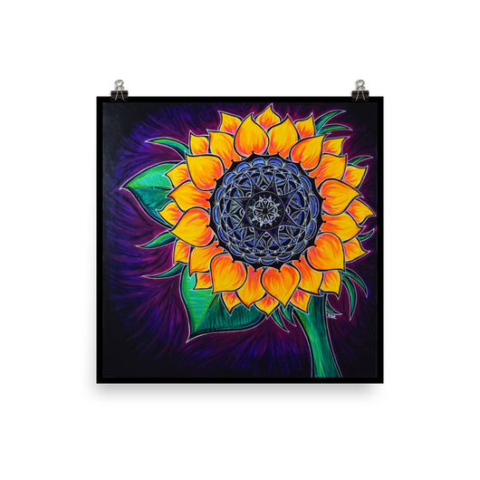 Mandala Sunflower Print