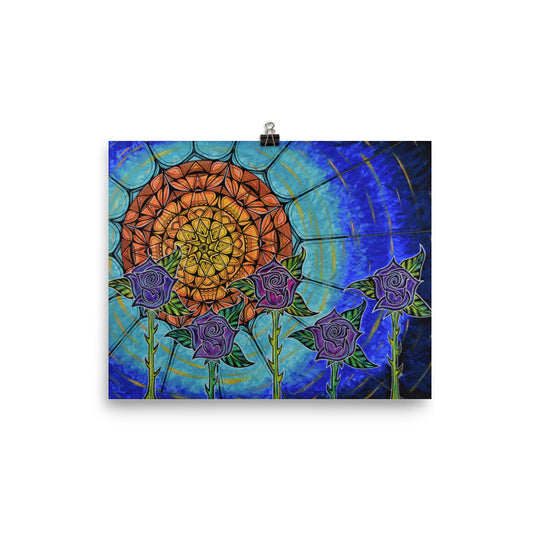 Absorbing Order- Roses in the Sunlight Mandala Print