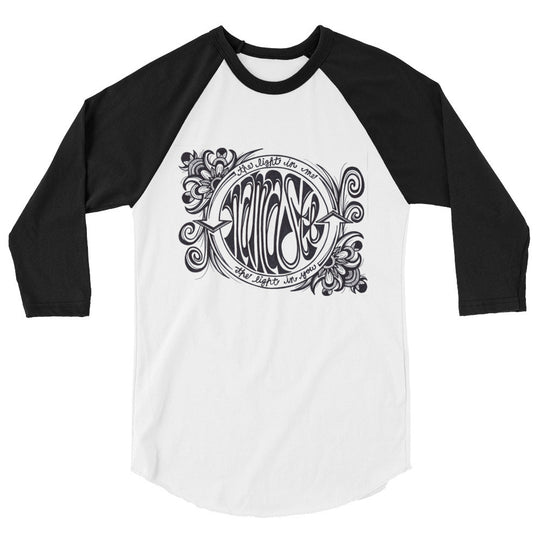 Namaste Light In Me- Unisex 3/4 sleeve raglan shirt