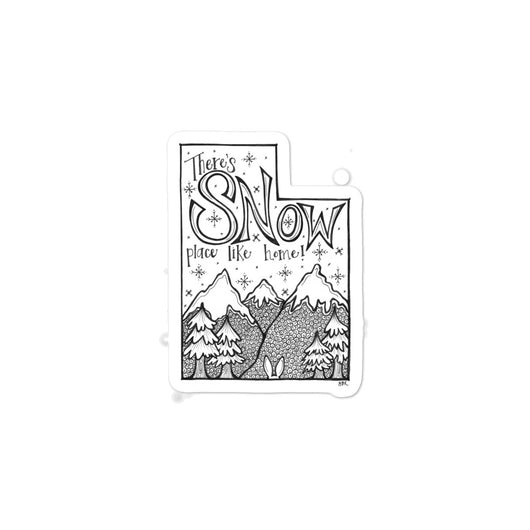 Utah Snow Bubble-free Art Sticker