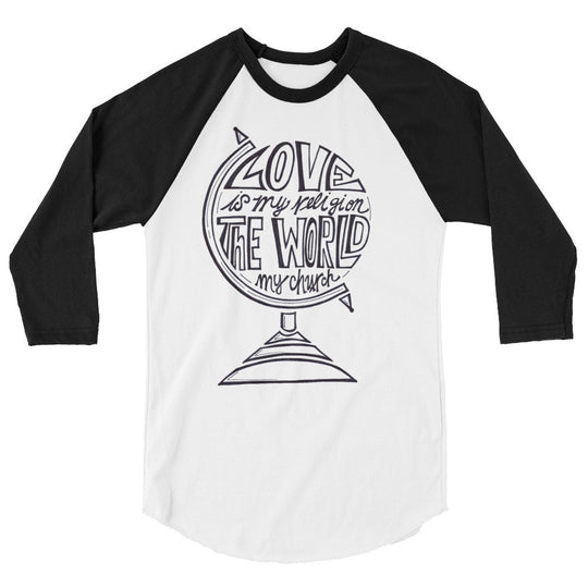Love is my Religion- Unisex 3/4 sleeve raglan shirt