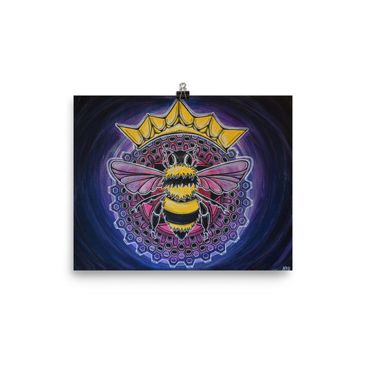 Queen Bee Mandala Print