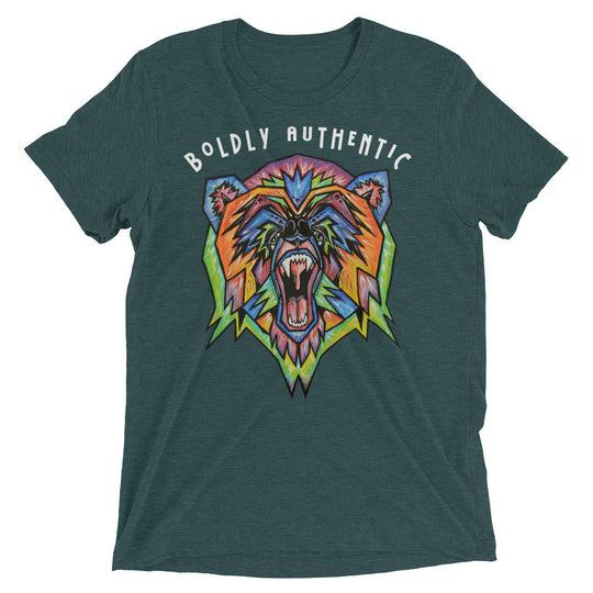 Boldly Authentic Bear- Short sleeve t-shirt