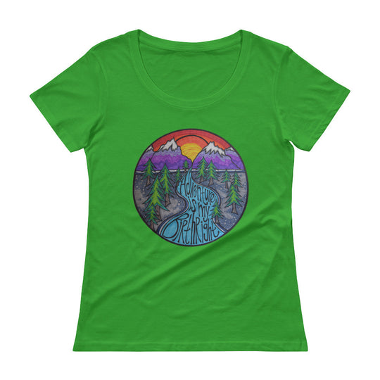 Adventure is my Birthright- Ladies' Scoopneck T-Shirt