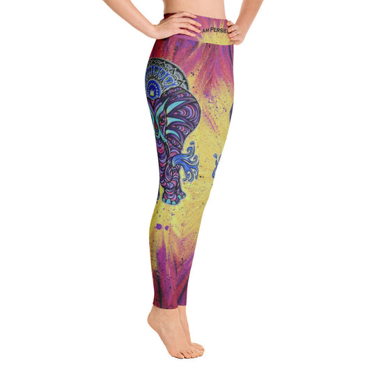 I am Persistent -Elephant Yoga Leggings