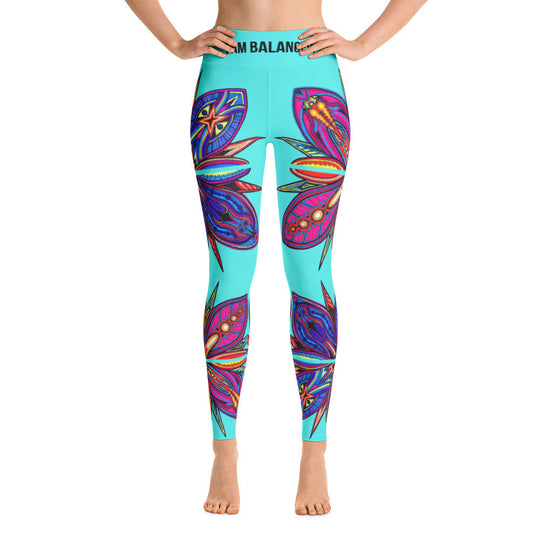 Balanced Phallusy Flower Yoga Leggings