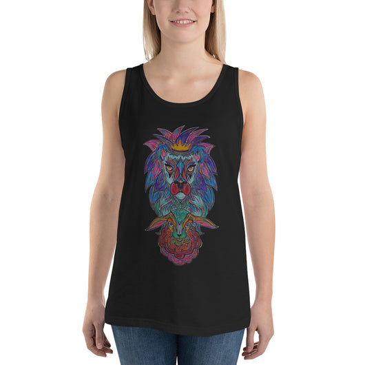 The Lion and The Lamb Unisex  Tank Top