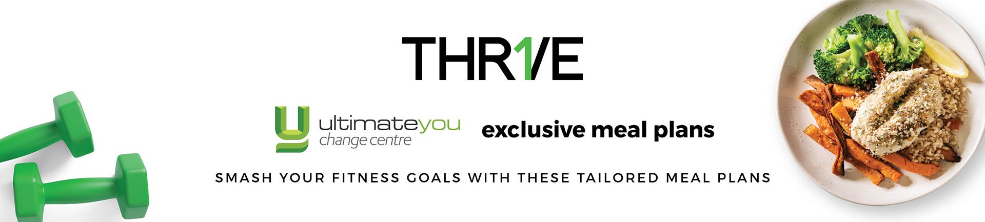 Banner with delicious Thrive food