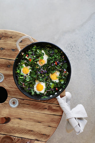 low carb green shakshuka
