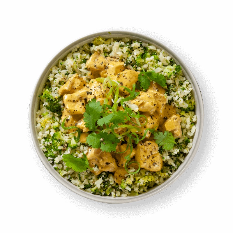 Chicken Rendang Curry with Broccoli & Cauliflower Rice