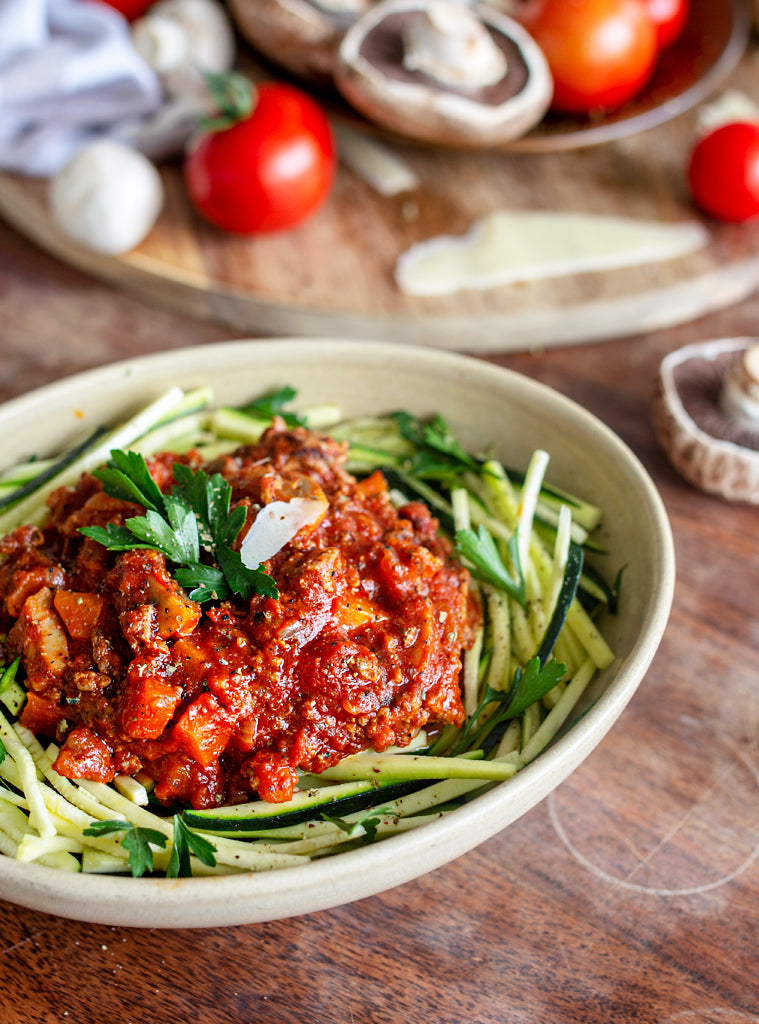 Beef Bolognese with Zoodles